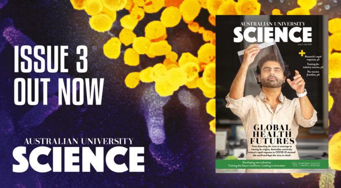 Australian University Science issue 3 banner